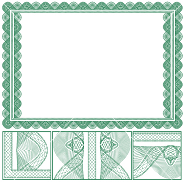 14 borders vector green certificate images free vector high resolution certificate borders yadclub Images