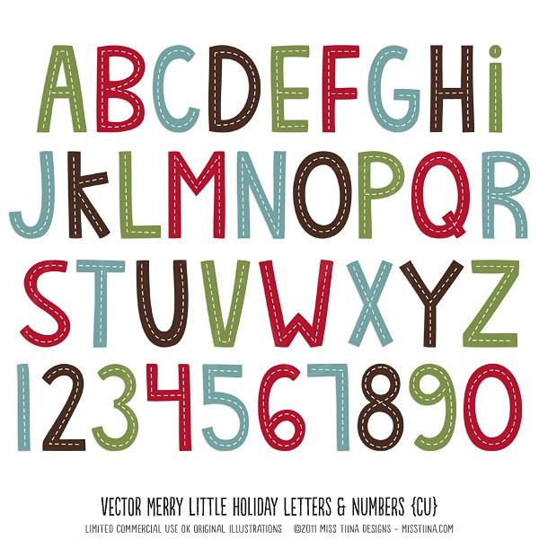 Holiday Fonts Christmas