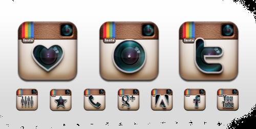 Instagram Icon Symbols