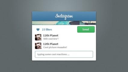 Instagram Psd Free Templates
