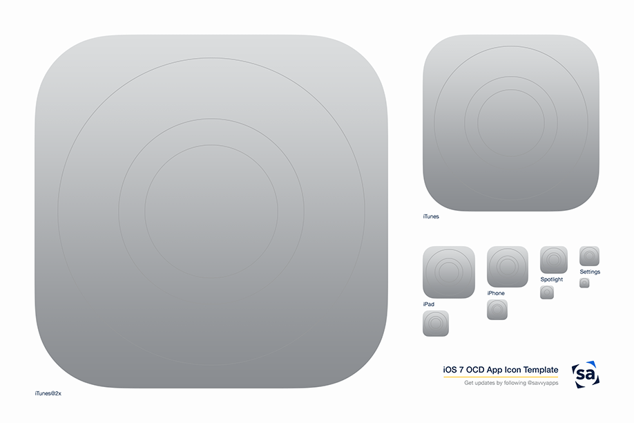 11 IOS 7 Icon Template Images