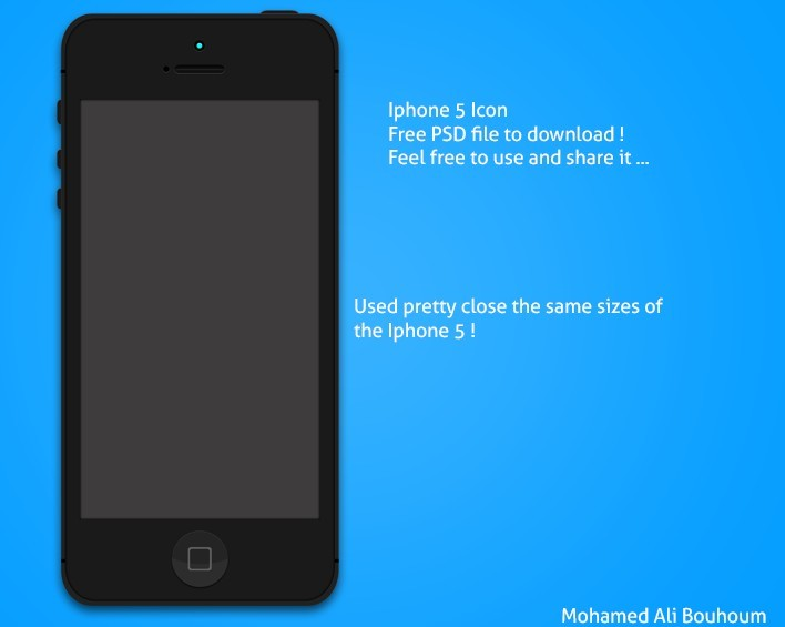 iPhone 5 Mockup Template