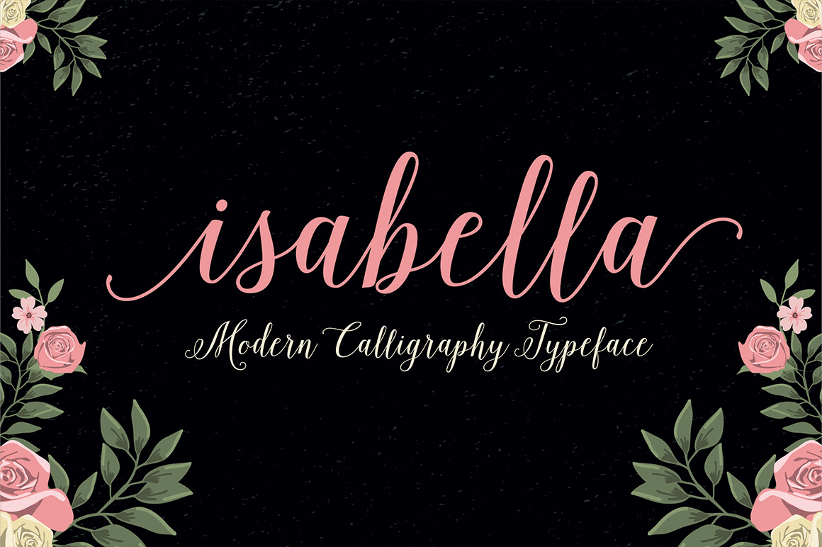 11 Isabella Calligraphy Font Free Images
