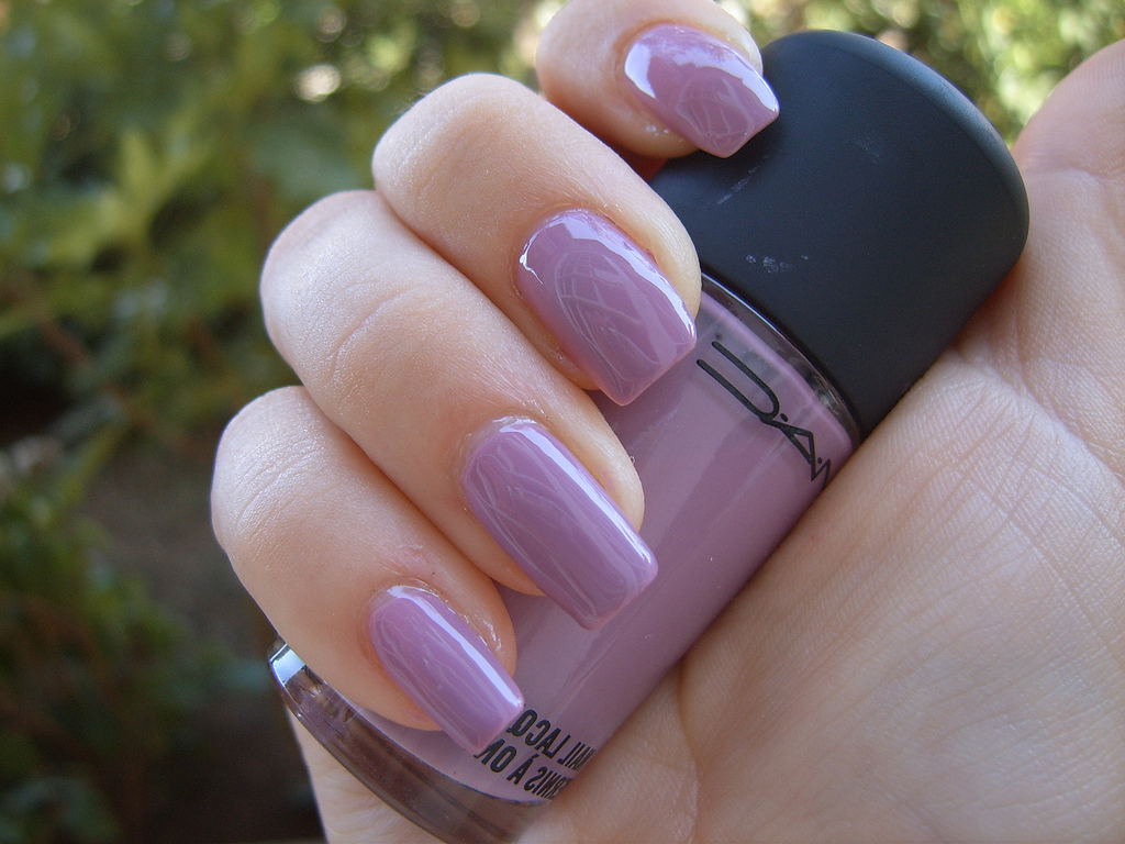 15 Pale Purple Nail Polish Designs Images , Purple Nail
