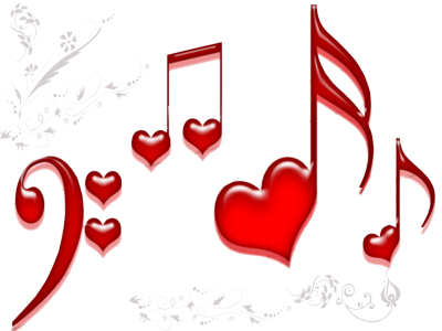 Love Heart Music Note