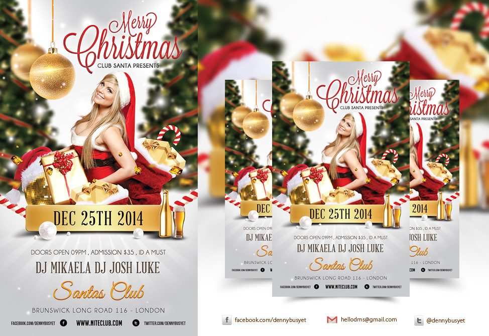 13 Christmas Club Flyer PSD Images