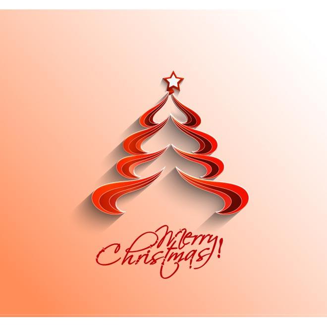 Merry Christmas Tree Logo