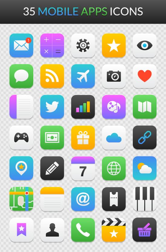 Mobile App Icon Sets