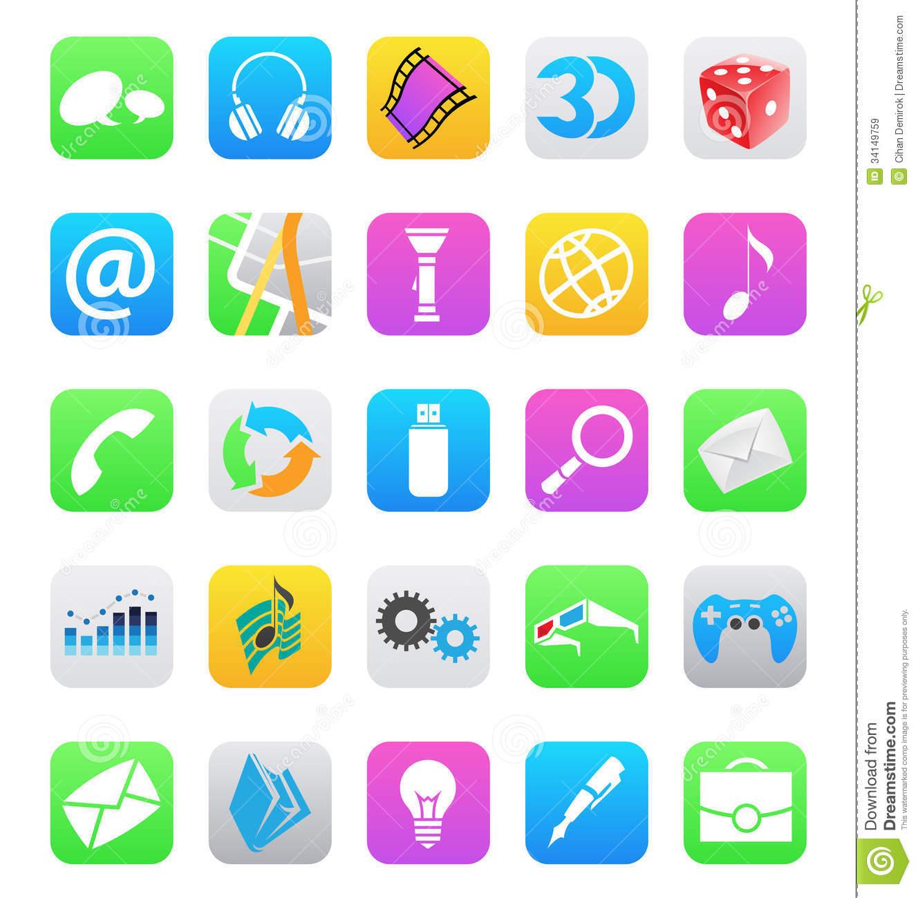 Mobile App Icon Vector