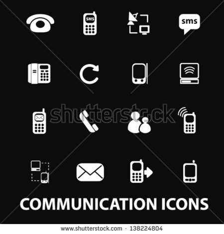 Phone Icon Black with White Background
