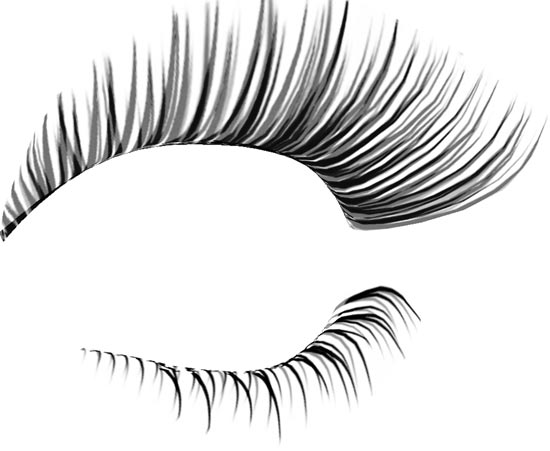 15 Eyelash PSD Photoshop Images