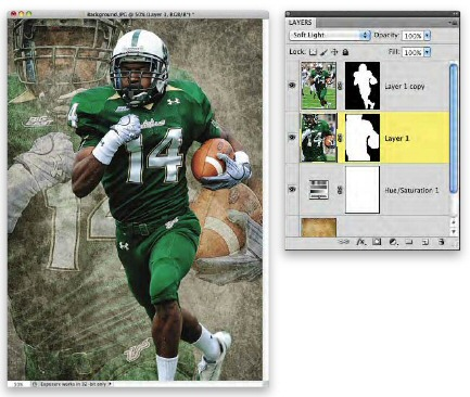 Photoshop Football Player