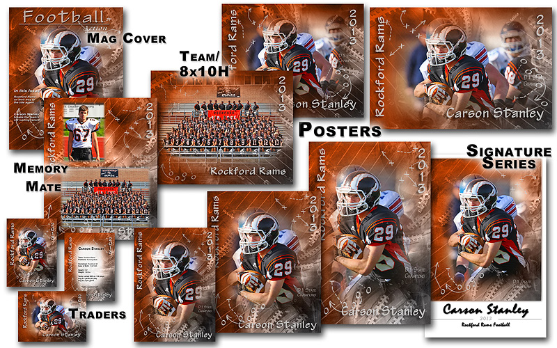 Photoshop Sports Collage Templates