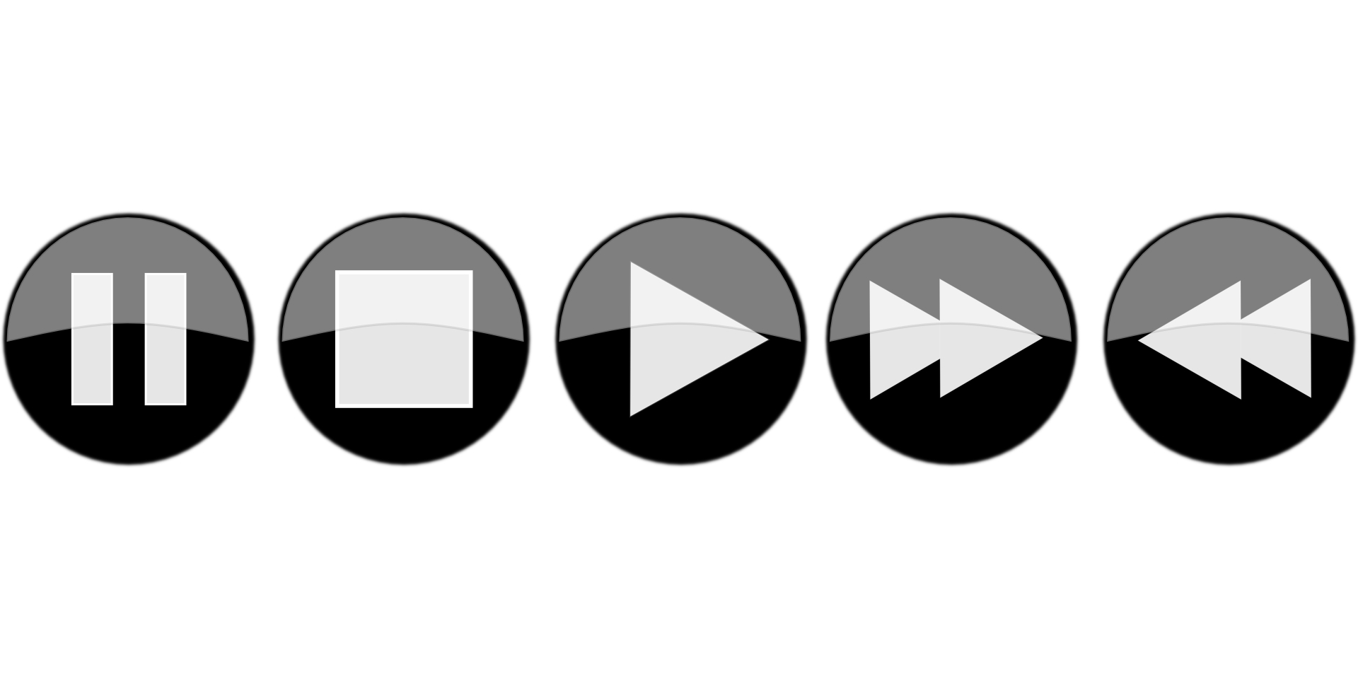 11 Media Player Button Icons PSD Pics Images - Free Media