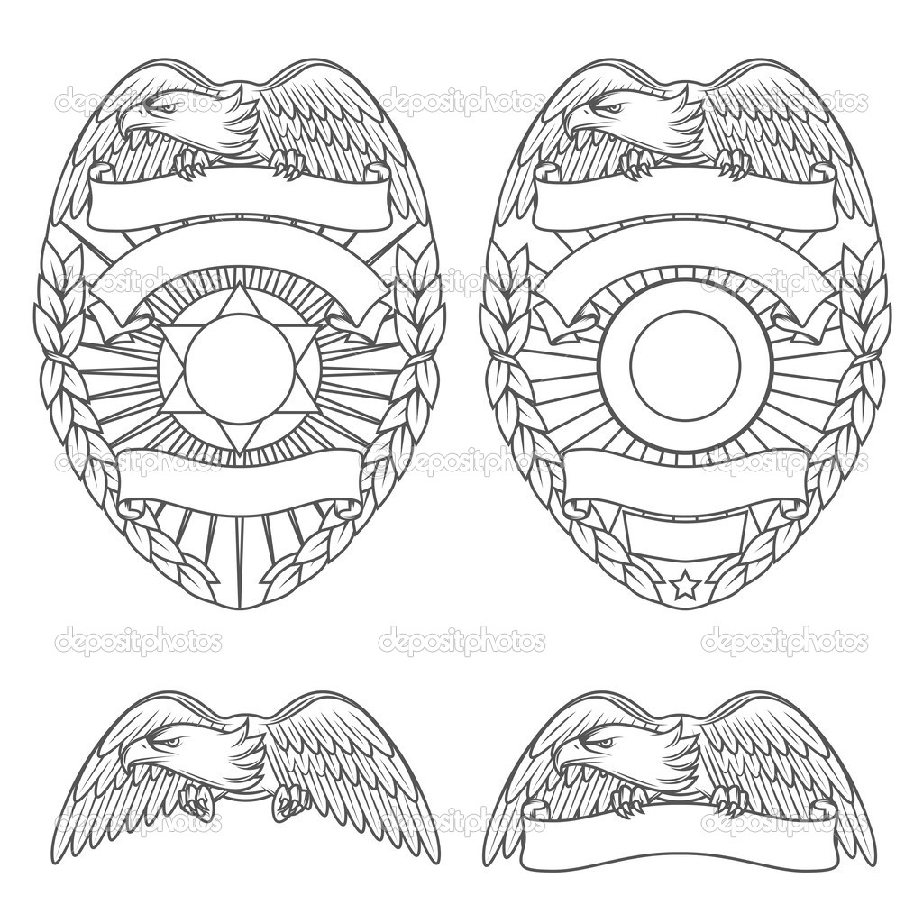 15 police shield badge vector art images