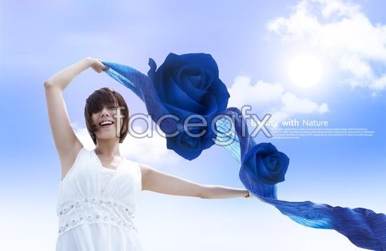 PSD Beautiful Women