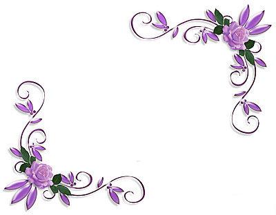 18 Flower Corner Page Border Design Images