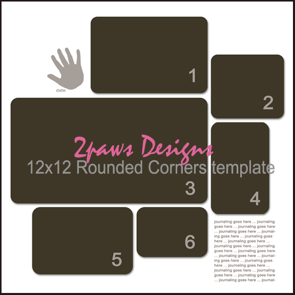 Rounded Corner Template