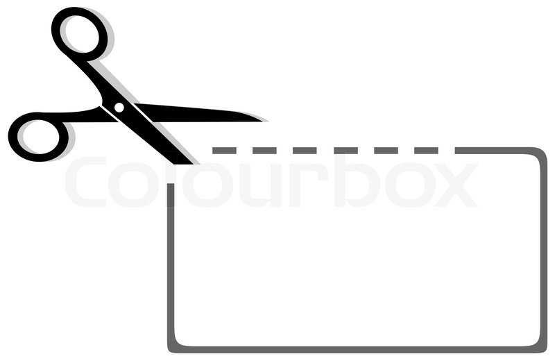 clip art dotted line with scissors - photo #6