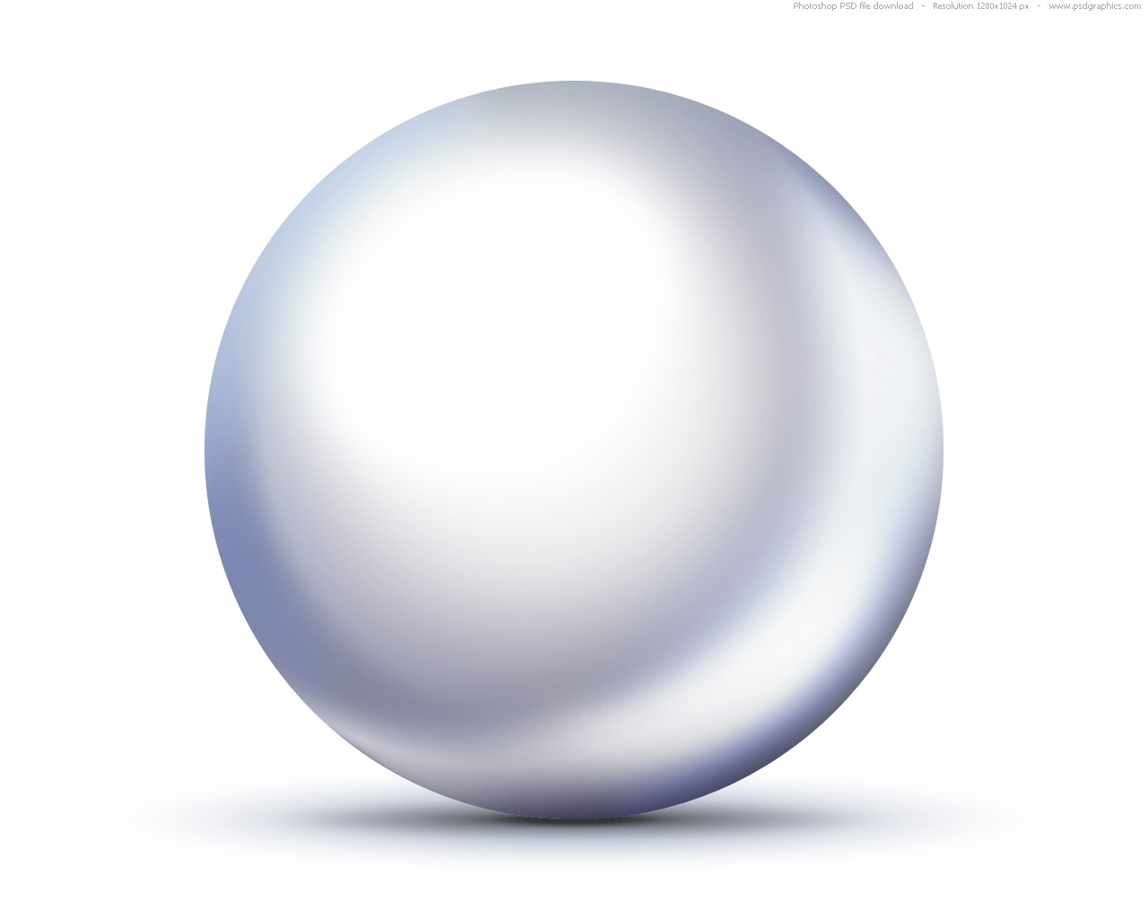 Shiny White Pearls Transparent PNG