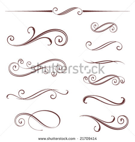 14 Simple Vector Scroll Designs Images