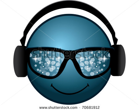 13 Headphones Emoticon Symbol Images - Cool Smiley Face with