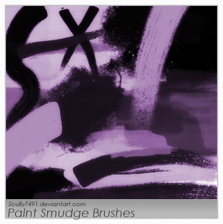11 PSDs Paint Smudge Images