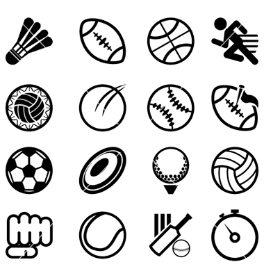 Sport Icons Vector Free