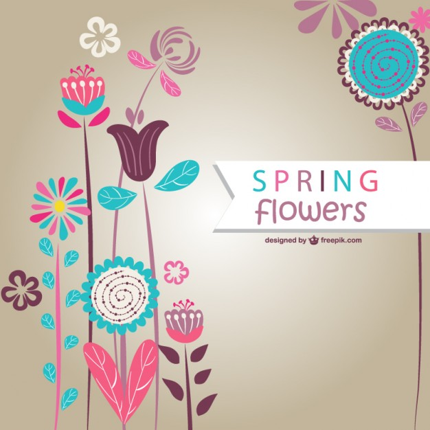 Spring Flowers Vector Art