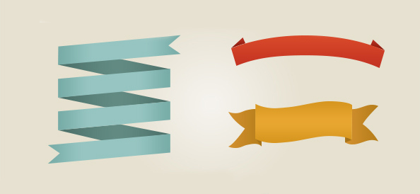 Stitched Ribbon PSD Download