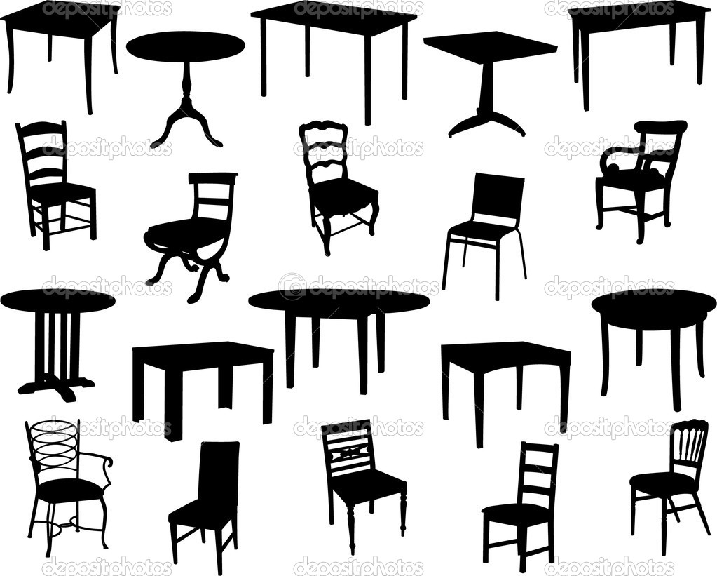 13 Vector Art Table And Chairs Images