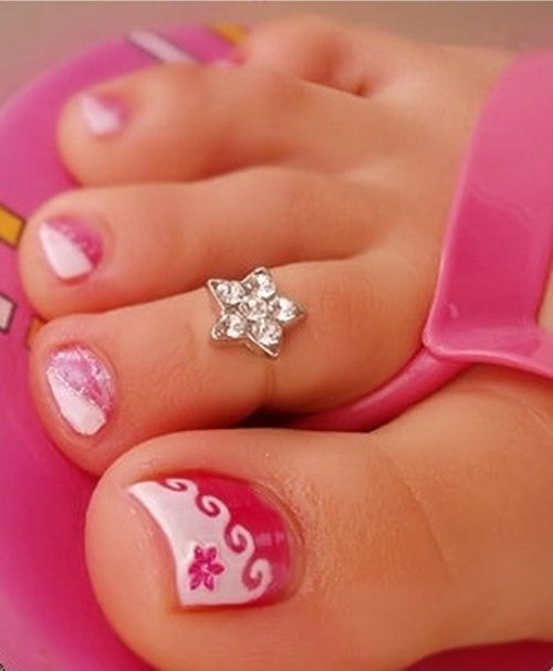 Toe Nail Designs French Tip