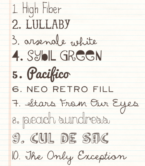 12 Great Handwritten Fonts Images