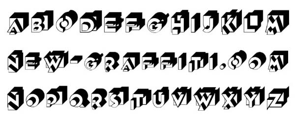 Unique Letter Font Style