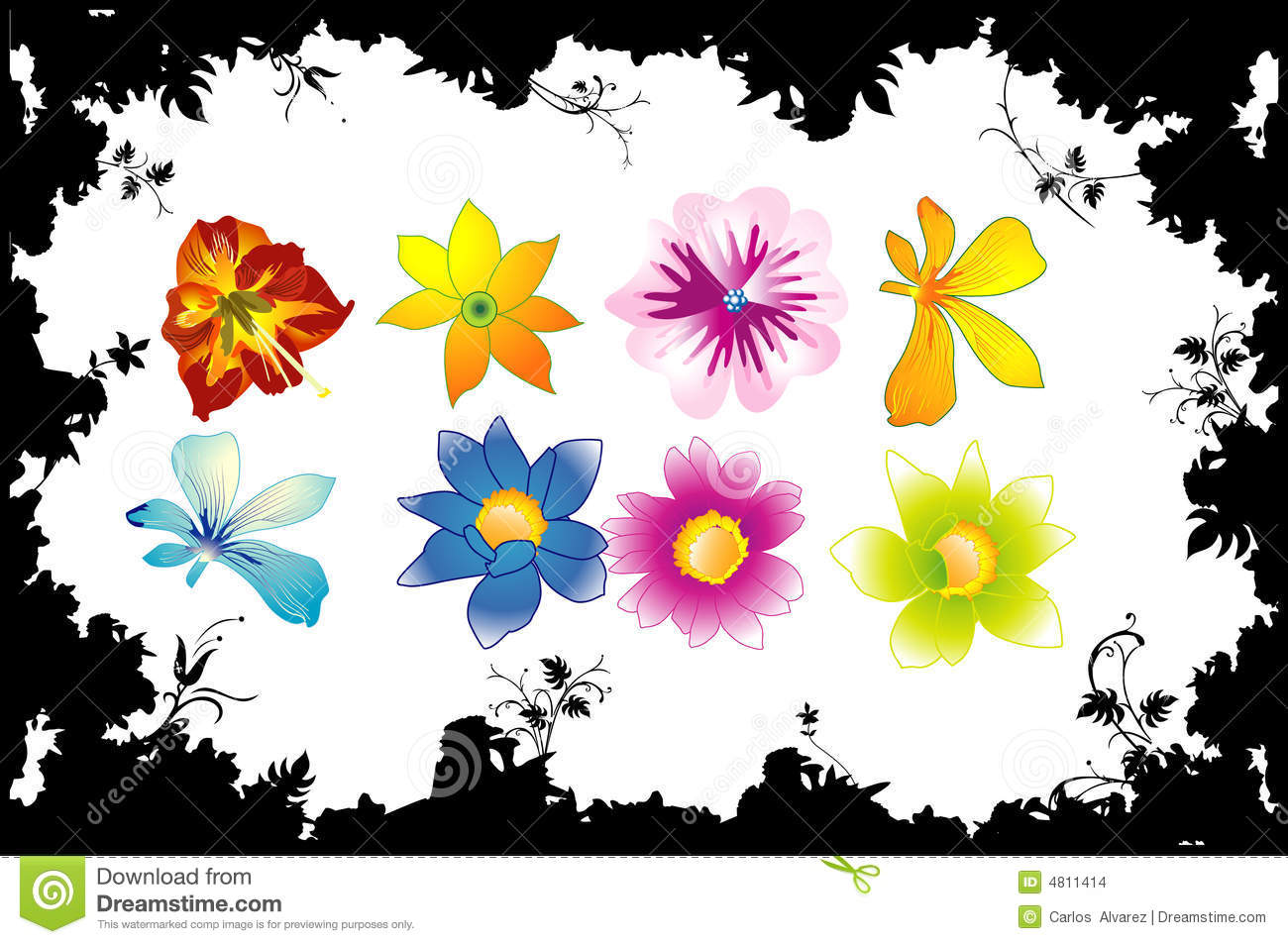 Vector Flower Shape