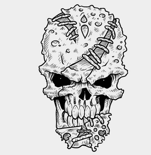 11 Vector Skull Flourish Images