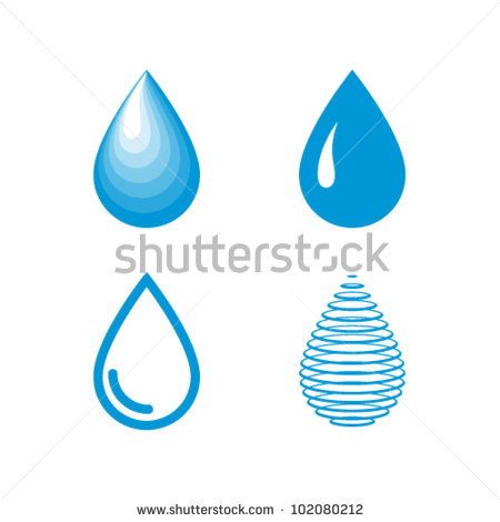 13 Water Droplet Icon Vector Images