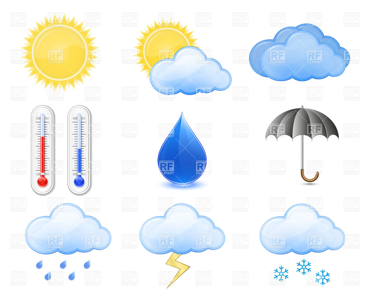 Weather Forecast Icons Rain