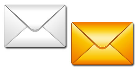 15 White Email Icon PSD Images
