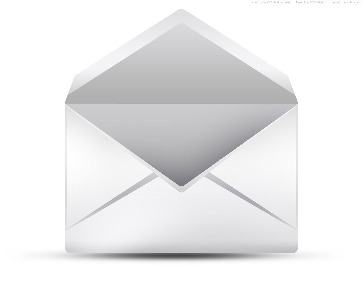 White Open Envelope Icon