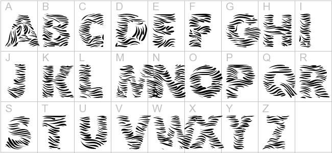 17 Zebra Print Numbers Font Images Zebra Print Font Free
