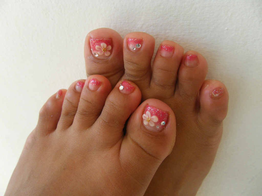 Acrylic Toe Nail Designs