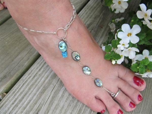 Anklet Toe Ring and Bracelet