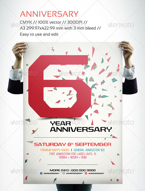 16 Free PSD Flyer Templates Anniversary Images
