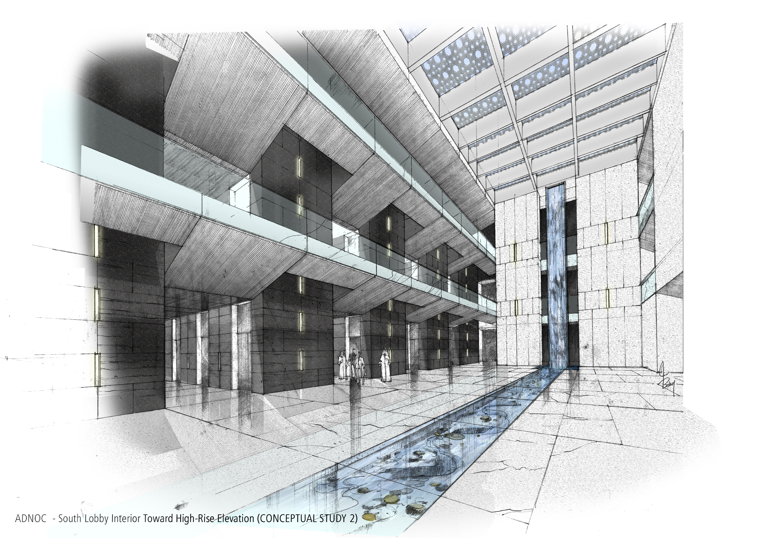 architectural sketches sketch coroflot architecture photoshop drawing architect rendering interior collin building background vacation presentation entourage newdesignfile byrnes hand perspective
