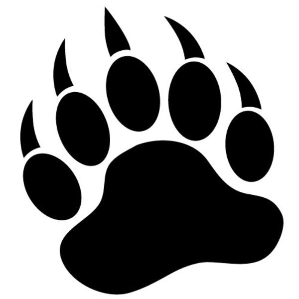 Bear Paw Print Logo