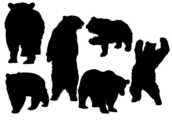 Bear Silhouette Vector Free