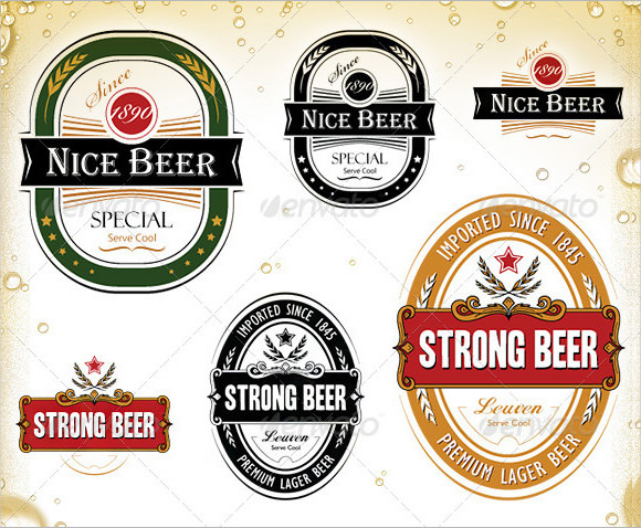 Beer Label Template PSD