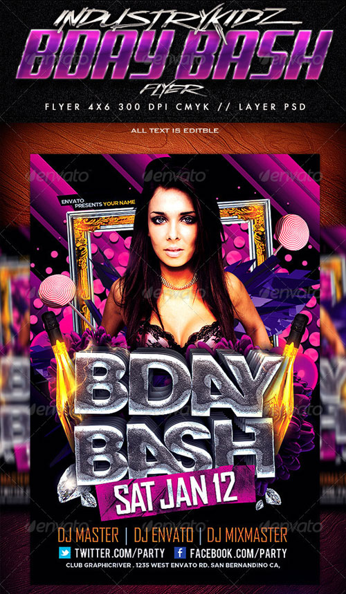 Birthday Bash Flyer Templates Free