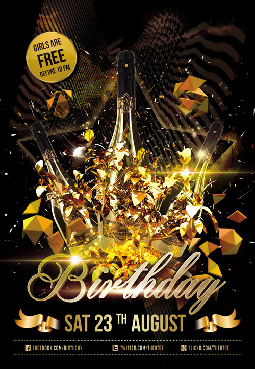 Birthday Club Flyer Templates Free
